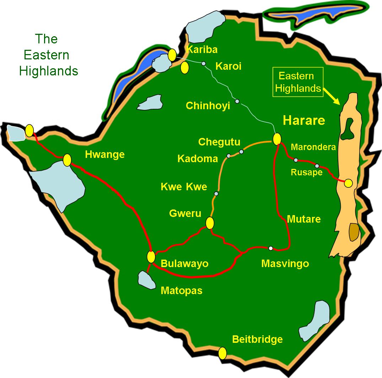 Eastern Highlands  U2013 Zimbabwe Connections